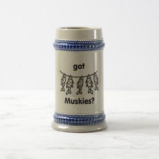 got muskies 18 oz beer stein