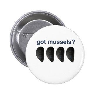 got mussels? 2 inch round button