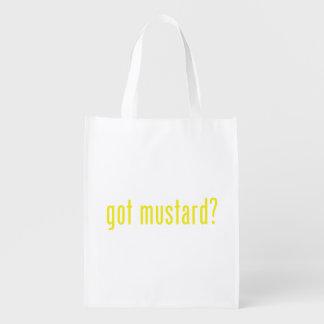 got mustard? reusable grocery bag