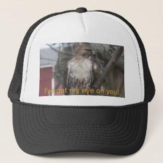 Got My Eye on You Hawk Humor Trucker Hat