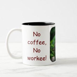 Got My Grump On!, No coffee,No workee!, No coff... Two-Tone Coffee Mug