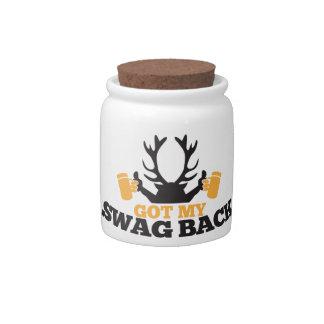 Got MY SWAG BACK!  reindeer buck with beers! Candy Jar