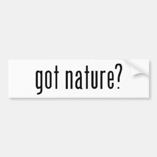 got nature? car bumper sticker