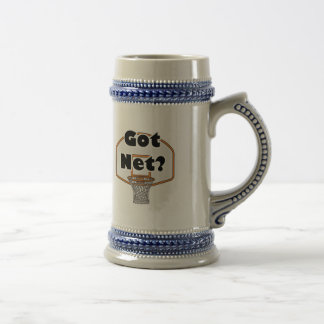 got net basketball hoop beer stein