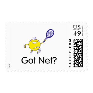 Got Net?Tennis Stamp