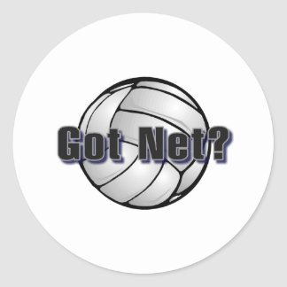 Got Net? Volleyball Classic Round Sticker