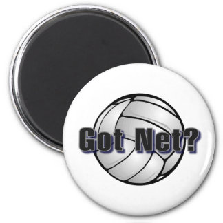 Got Net Volleyball 2 Inch Round Magnet