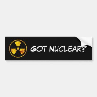 Got Nuclear Bumper Sticker