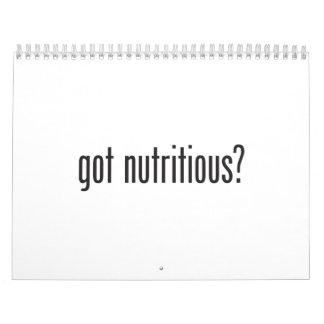 got nutritious wall calendars