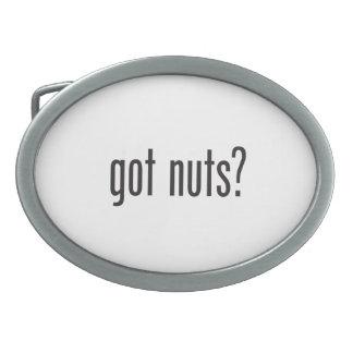 got nuts oval belt buckles