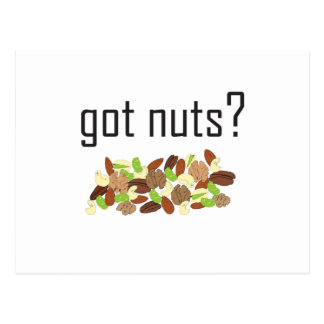 got nuts? (pile of nuts) postcard