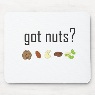 got nuts? (row of nuts) mouse pad