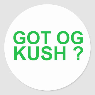 Got OGKUSH Classic Round Sticker