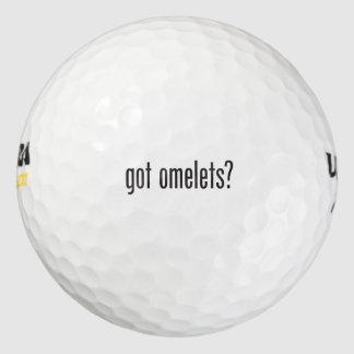got omelets pack of golf balls