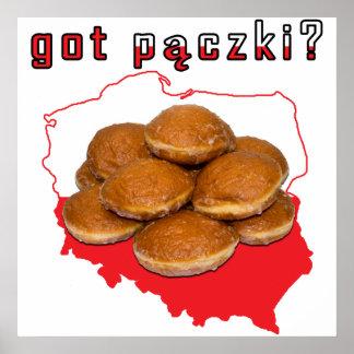got paczki? Polish Map Poster