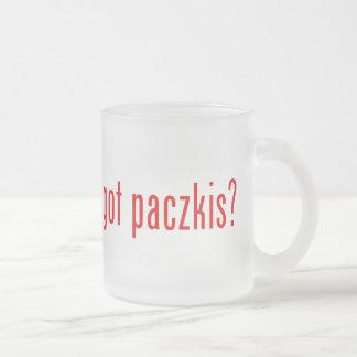 got paczkis? frosted glass coffee mug
