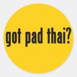 got pad thai? classic round sticker