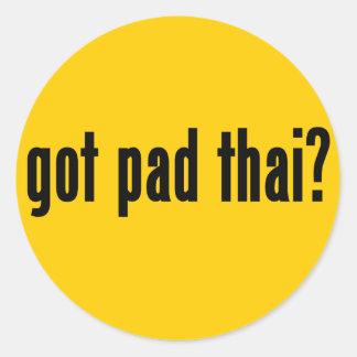 got pad thai round stickers