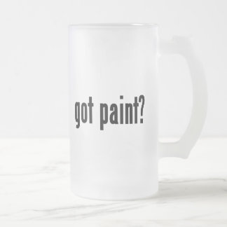 got paint? frosted glass beer mug
