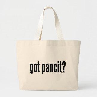 Got pancit? large tote bag