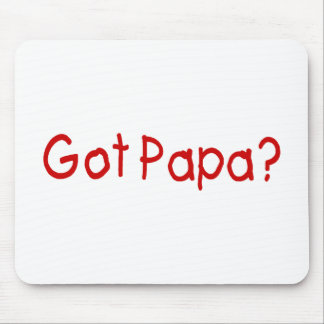 Got Papa (Red) Mouse Pad