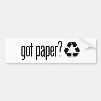 bumper sticker paper Bumper sticker definition: a bumper sticker is a small piece of paper or plastic with words or pictures on it | meaning, pronunciation, translations and examples.