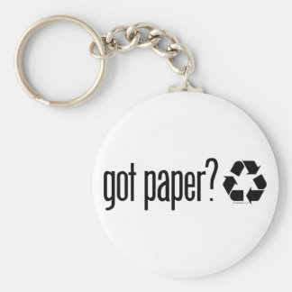 got paper? Recycling Sign Keychain