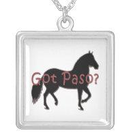 Got Paso? Paso Fino Silhouette Personalized Necklace