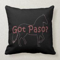 Got Paso? Paso Fino Silhouette Pillows