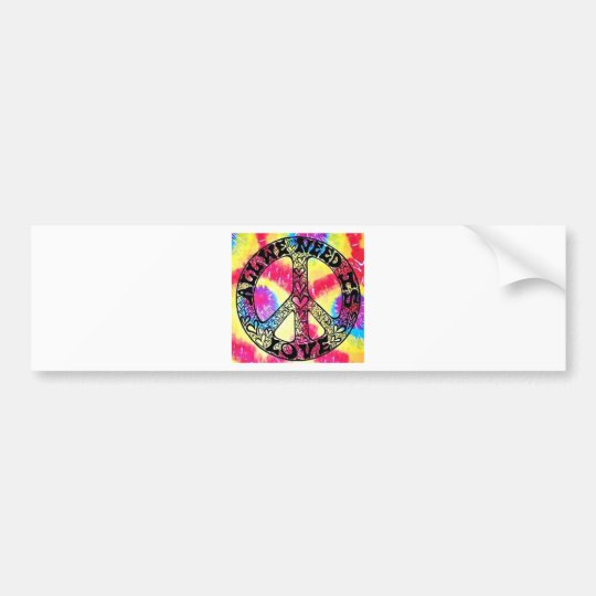 Got Peace?  All You Need is Love Bumper Sticker