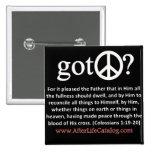 Got Peace? Pinback Button