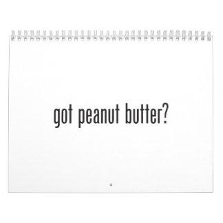 got peanut butter wall calendar