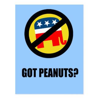 got peanuts postcard