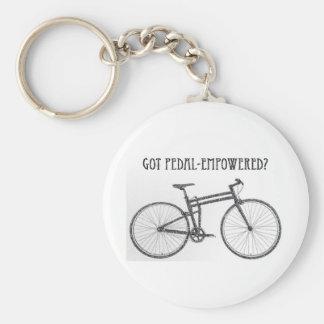 Got pedal-empowered? keychain