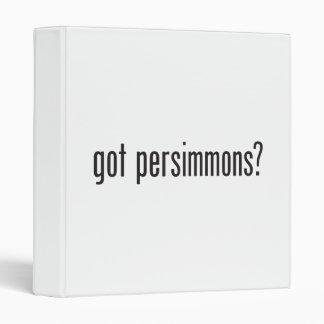 got persimmons 3 ring binders