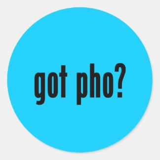 got pho? classic round sticker