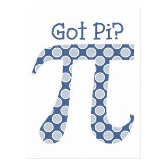 Got Pi?  Denim Dots Postcards