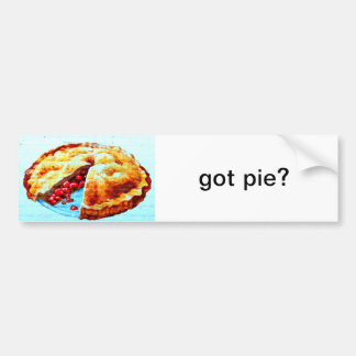 got pie bumper sticker