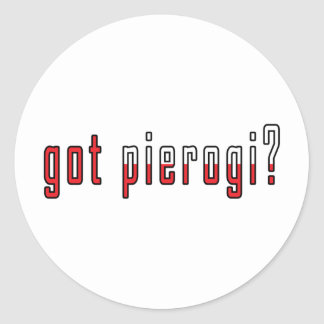 got pierogi? Flag Classic Round Sticker