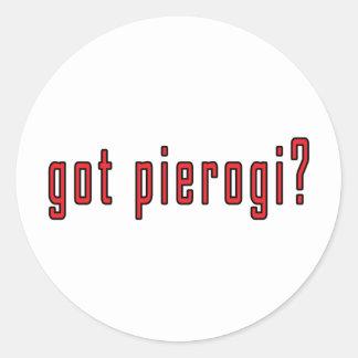 got pierogi? round sticker