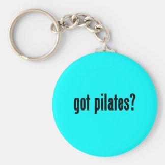 got pilates? basic round button keychain