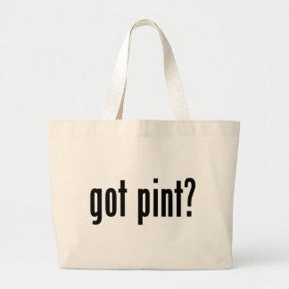 got pint? large tote bag