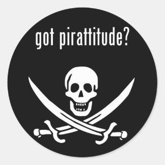 got pirattitude? classic round sticker