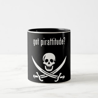 got pirattitude? Two-Tone coffee mug