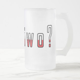 got piwo? Flag 16 Oz Frosted Glass Beer Mug