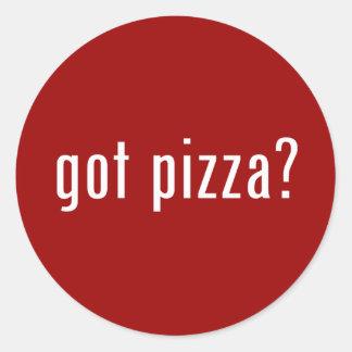 got pizza? classic round sticker