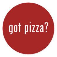 got pizza? sticker