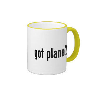 got plane? ringer coffee mug
