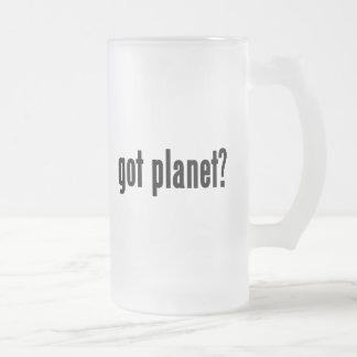 got planet? 16 oz frosted glass beer mug