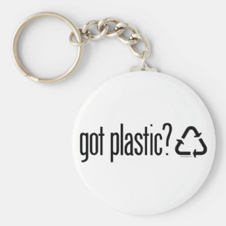 got plastic? Recycling Sign Keychain